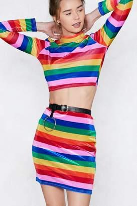 Nasty Gal Good Vibrations Rainbow Skirt