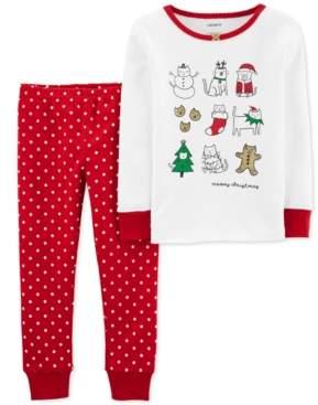 Carter's Baby Girls 2-Pc. Meowy Christmas Snug Fit Cotton Pajamas Set