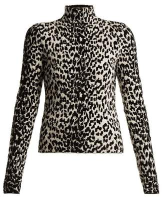 Givenchy Animal Intarsia Wool Blend Top - Womens - Animal