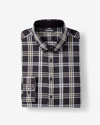 Express Extra Slim Plaid Performance Shirt