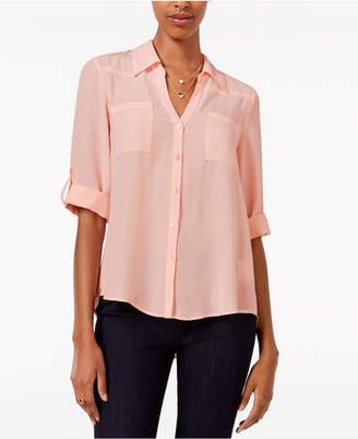 BCX Juniors' Tab-Sleeve Shirt