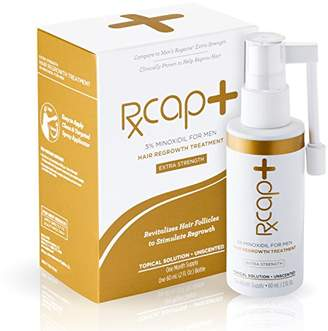 RXCap+ 5% Minoxidil Hair Regrowth Treatment For Men - Extra Strength - One Month Supply - Unscented - Topical Solution