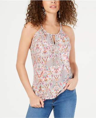 INC International Concepts I.N.C. Beaded Keyhole Halter-Neck Top, Created for Macy's