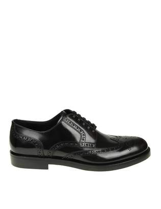 Dolce & Gabbana Black Leather Derby Shoe