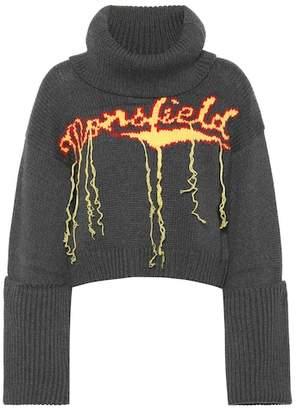 Monse Wool intarsia turtleneck sweater