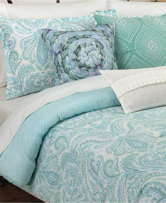 Nouvelle Home Painterly Paisley White King Comforter Set Bedding