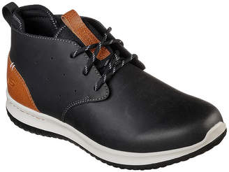 4ae93f01b858 Skechers Mens Delson Oxford Shoes Lace-up Round Toe