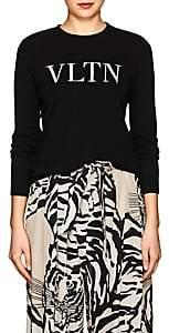 """Valentino Women's """"VLTN"""" Wool-Cashmere Sweater - Black"""