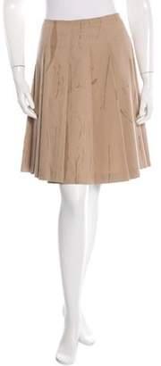 Prada Pleated Mini Skirt Khaki Pleated Mini Skirt