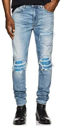 Amiri Men's MX1 Bandana-Inset Slim Jeans