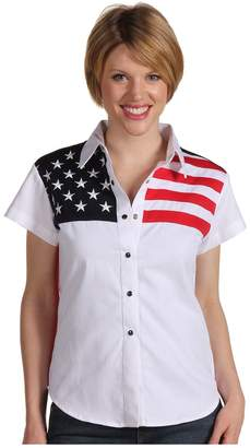 Scully Stars Stripes Shirt Women's Short Sleeve Button Up