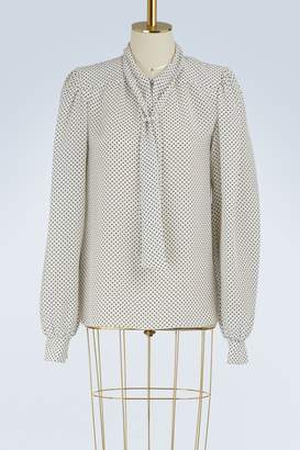 Maison Margiela Silk polka-dot shirt