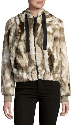 C&C California Women's Faux Fur Hooded Coat