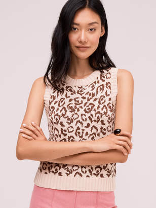 Kate Spade panther intarsia sweater vest