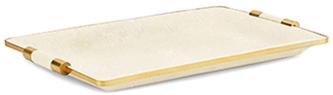 Shagreen Cream Small Vanity Tray