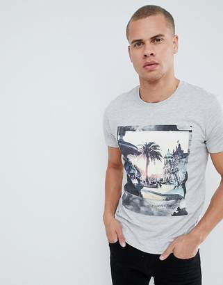 Esprit T-Shirt With Palm Tree Photo Print