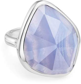Monica Vinader Siren Nugget Blue Lace Agate Cocktail Ring