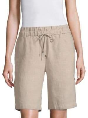 Eileen Fisher Undyed Linen Shorts