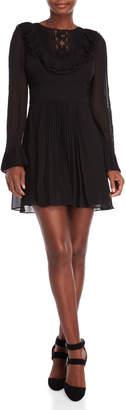 Karen Millen Lace Bib Ruffle Mini Dress