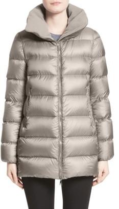 Women's Moncler 'Torcyn' Nylon Down Puffer Coat $1,115 thestylecure.com
