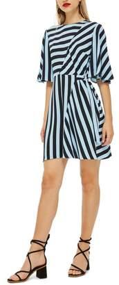 Topshop Diagonal Stripe Minidress