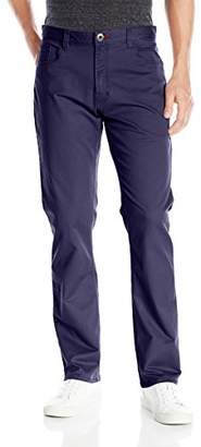 Izod Men's Weekender Washed Straight-Fit Flat Front Pant