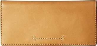 Frye Women's Carson Continental Slim Snap Wallet Oiled Veg