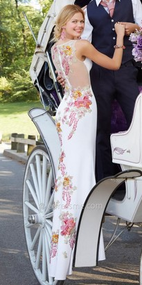 Jovani Embroidered Floral Prom Dress $550 thestylecure.com