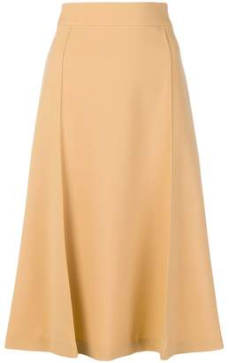 Chloé flared A-line skirt