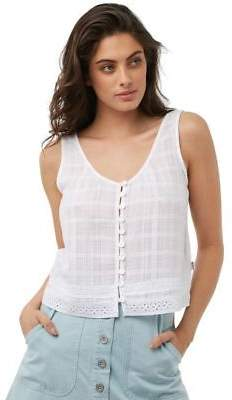 rhythm New Women's Womens Cape Town Top Cotton White