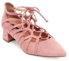 Design Lab Faux Suede Lace-Up Heels