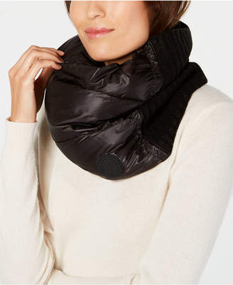 DKNY Puff Quilted Puffer Snood