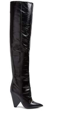 Saint Laurent Niki slouch leather boots