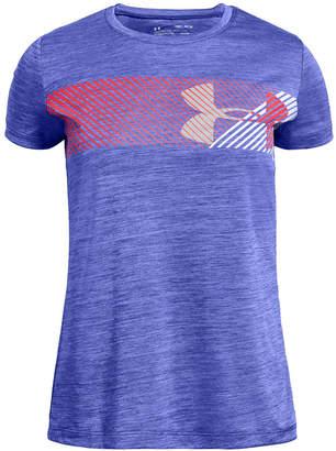 Under Armour Big Girls Hybrid Logo-Print T-Shirt