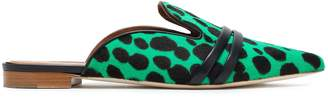 Malone Souliers Leather-trimmed Printed Calf Hair Slippers