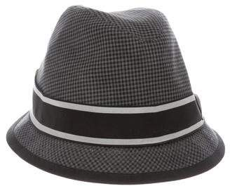 Dolce & Gabbana Bow-Accented Plaid Hat
