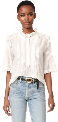 Zadig & Voltaire Deluxe Blouse $258 thestylecure.com