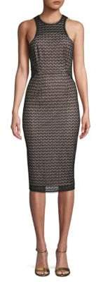 NSR Nina Lace Knee-Length Sheath Dress
