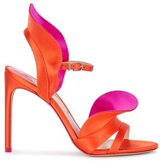 Sophia Webster Lucia Ruffled Satin Sandals