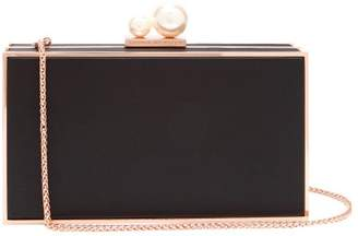 Sophia Webster Clara Satin Clutch - Womens - Black