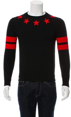 Givenchy Star Embroidered Crewneck Sweater