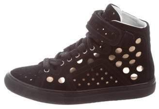 Pierre Hardy Laser Cut High-Top Sneakers Black Laser Cut High-Top Sneakers