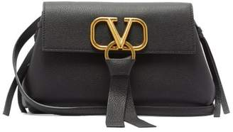 Valentino V Ring Small Leather Cross Body Bag - Womens - Black