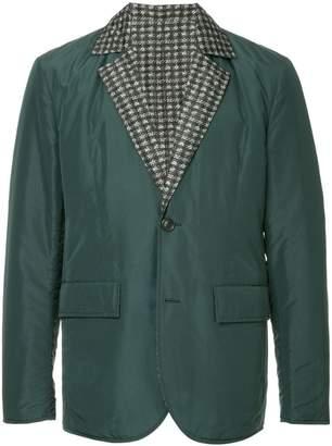 Cerruti contrast lapel blazer