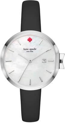 Kate Spade Women's Park Row Black Leather Strap Watch 34mm KSW1269