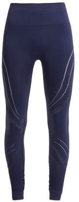 Pepper & Mayne - Saskia Laser Cut Compression Performance Leggings - Womens - Navy