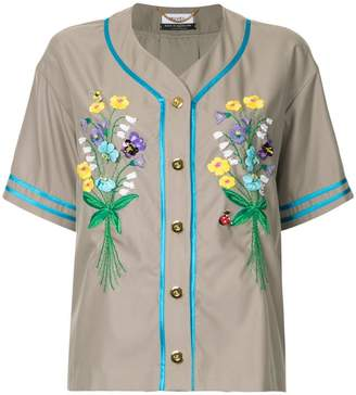 Muveil embroidered button shirt