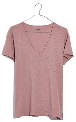 Madewell Whisper Cotton V-Neck Pocket Tee