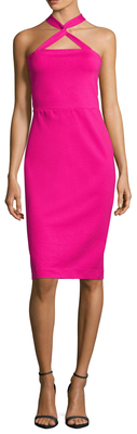 Logan Halter Sheath Dress $180 thestylecure.com