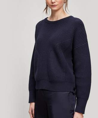 Folk Chunky Button Jumper